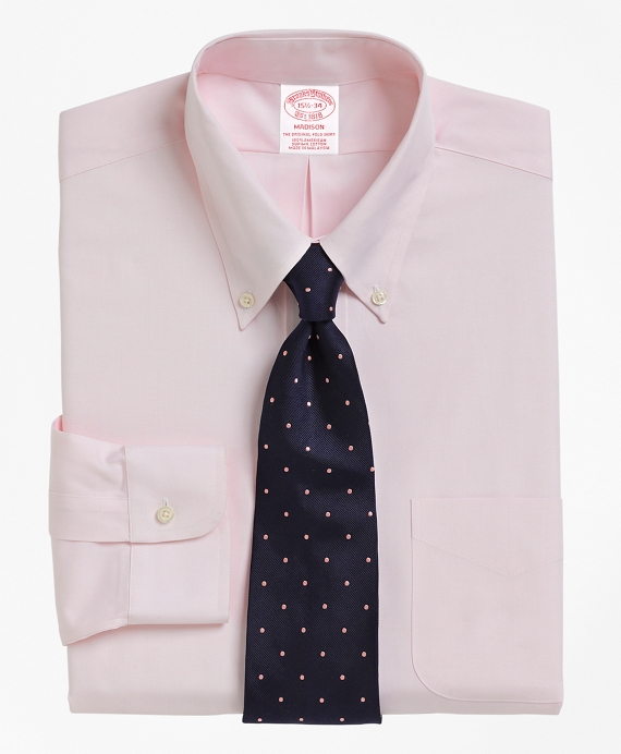 Madison Fit Button-Down Collar Dress Shirt Pink