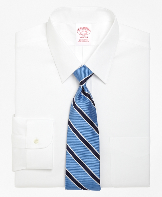 Madison Fit Forward Point Collar Dress Shirt White