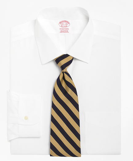 Traditional Relaxed-Fit Dress Shirt, Spread Collar