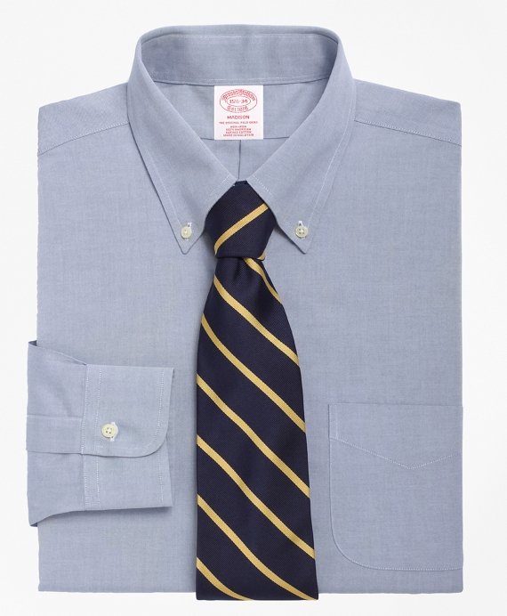 Non-Iron Madison Fit Button-Down Collar Dress Shirt Blue