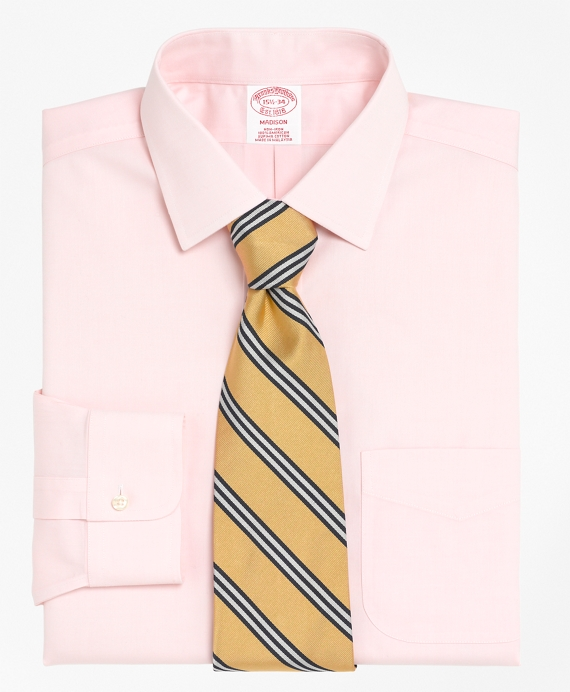 Non-Iron Regular Fit Spread Collar Dress Shirt Pink