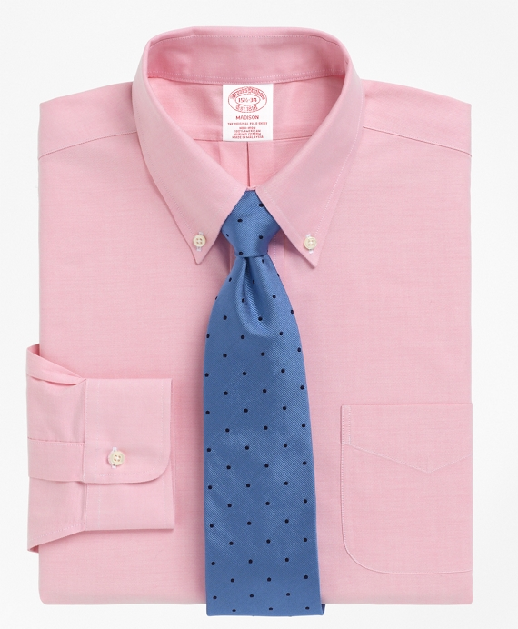 Non-Iron Madison Fit BrooksCool® Button-Down Collar Dress Shirt Pink