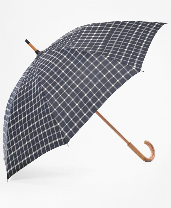 Tattersall Umbrella Black-White