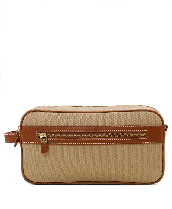 Canvas Leather Travel Kit Tan