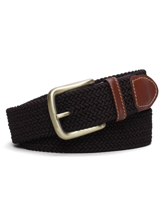 Surcingle Woven Belt Brown