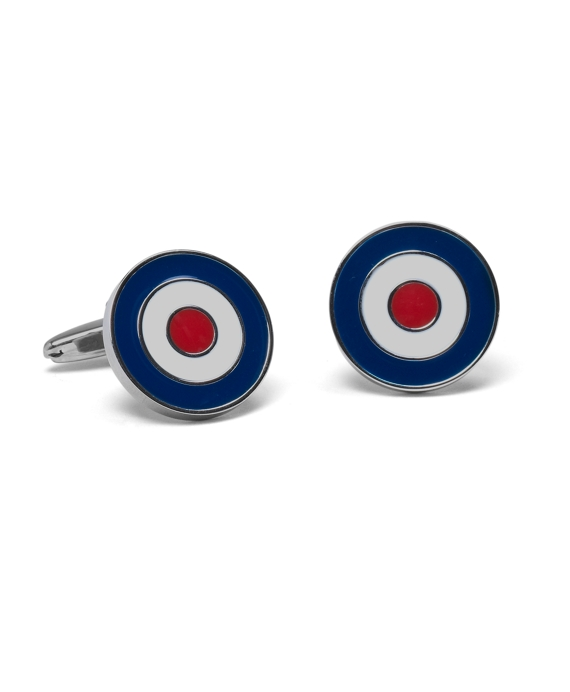 Bull's-Eye Cuff Links As Shown