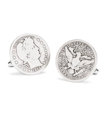 Authentic Vintage 1904 Quarter Cuff Links