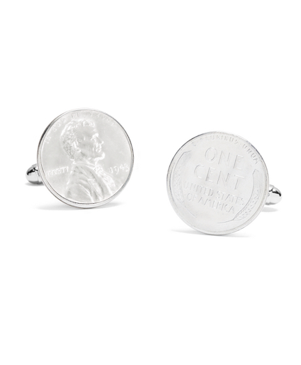 Authentic Silver 1943 Penny Cuff Links