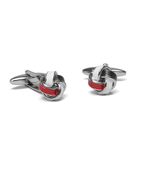 Love Knot Cuff Links Red-White-Black