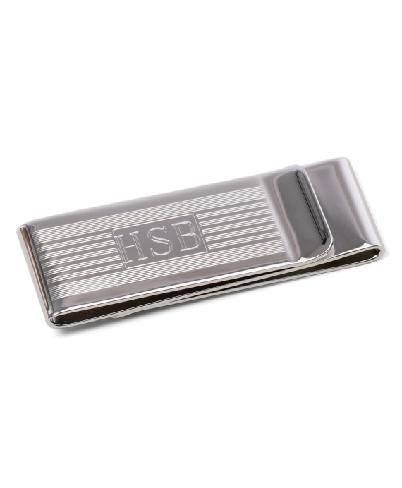 Engine-Turned Double Money Clip