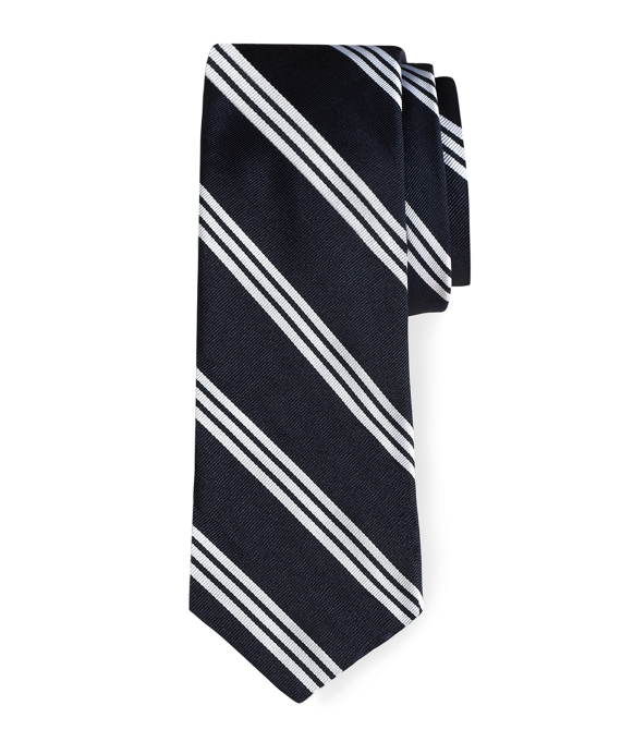 Black Fleece BB#10 Stripe Tie Navy-White