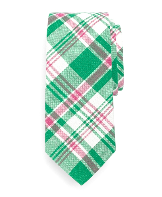 Pink and Green Madras Tie Multi