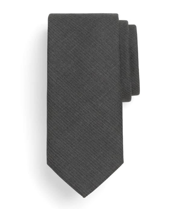 Pinstripe Wool Tie Grey