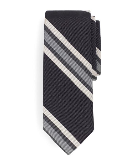 Grey Stripe Tie Grey