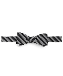 Thin Alternating Stripe Bow Tie