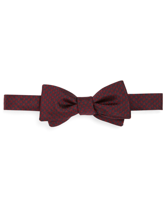 Houndstooth Bow Tie Navy-Red