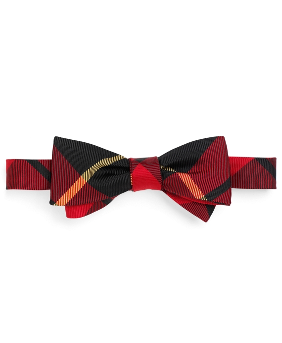 Tartan Bow Tie Red-Black