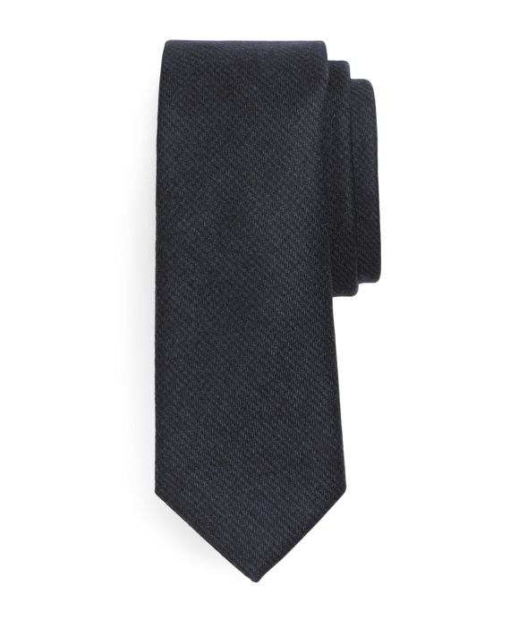 Wool Mini Check Tie Navy-Black