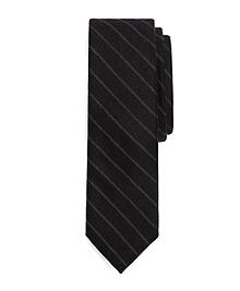 Grey Wool Chalk Stripe Tie