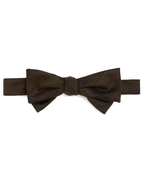 Navy and Green Plaid Bow Tie Navy-Green