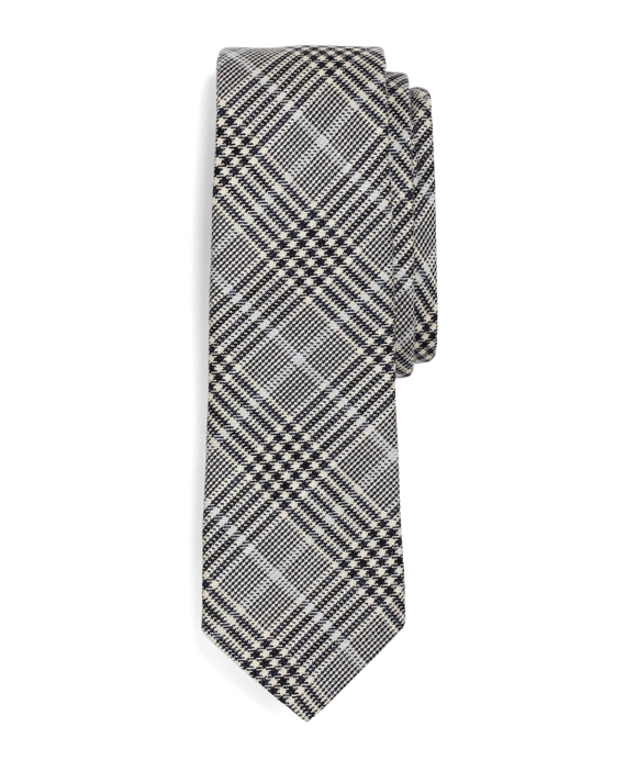 PLAID TIE White-Navy