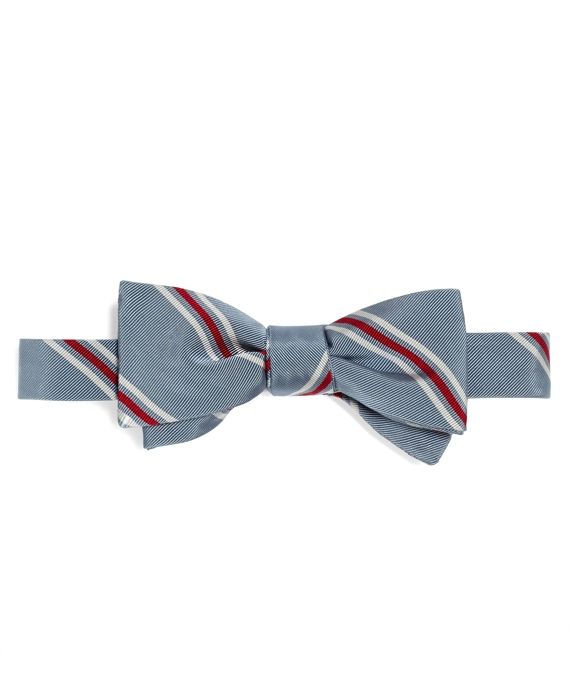 SPACED STRIPE BOW TIE Blue-White-Red