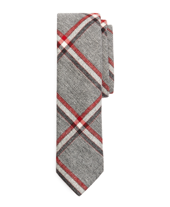 GREY WOOL RED, WHITE AND BLUE TIE Grey