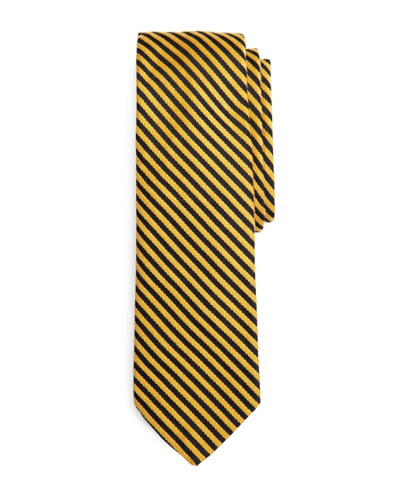 GOLD AND NAVY FEEDER STRIPE TIE Gold-Navy