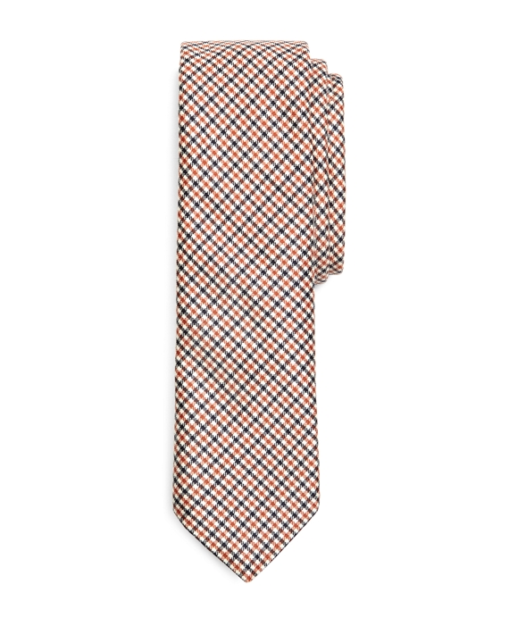 MINI CHECK TIE Navy-Coral