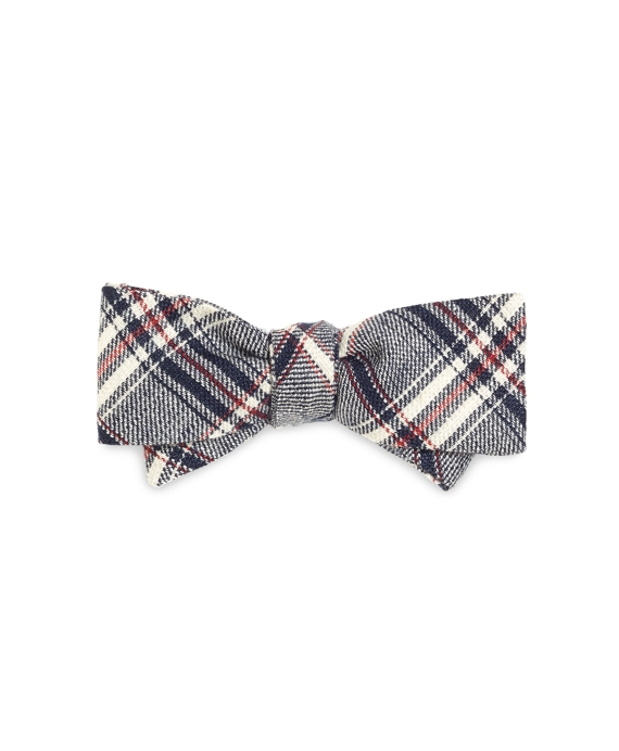 Plaid Bow Tie Navy-Red-White