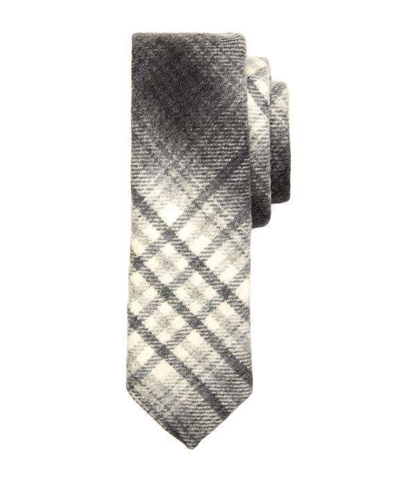 Grey Plaid Tie Grey