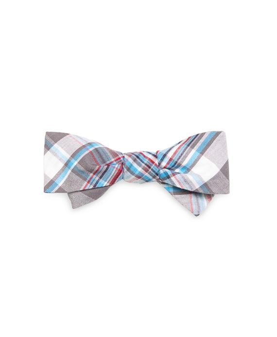 Madras Bow Tie Grey
