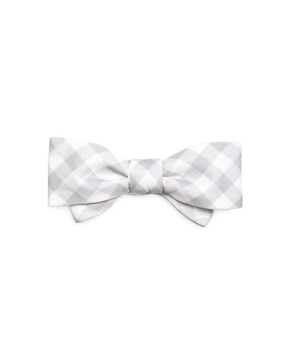 Gingham Bow Tie Grey