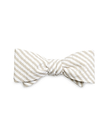 Tan Seersucker Bow Tie
