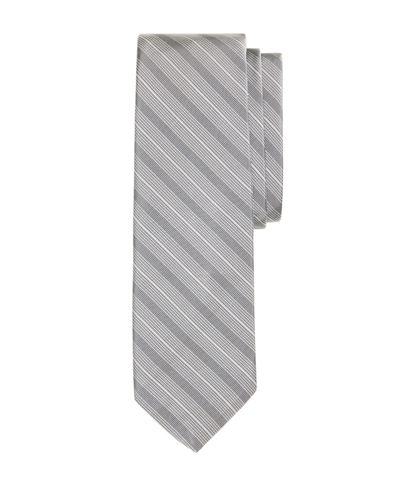 Multi Mini Stripe Tie Grey