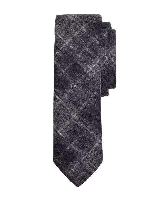 Plaid Tie Grey