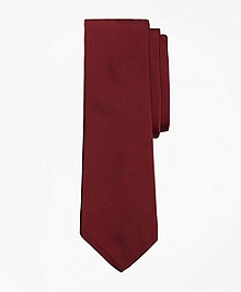 Burgundy Cotton and Silk Tie