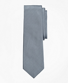 Light-Grey Cotton and Silk Tie