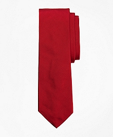 Red Cotton and Silk Tie