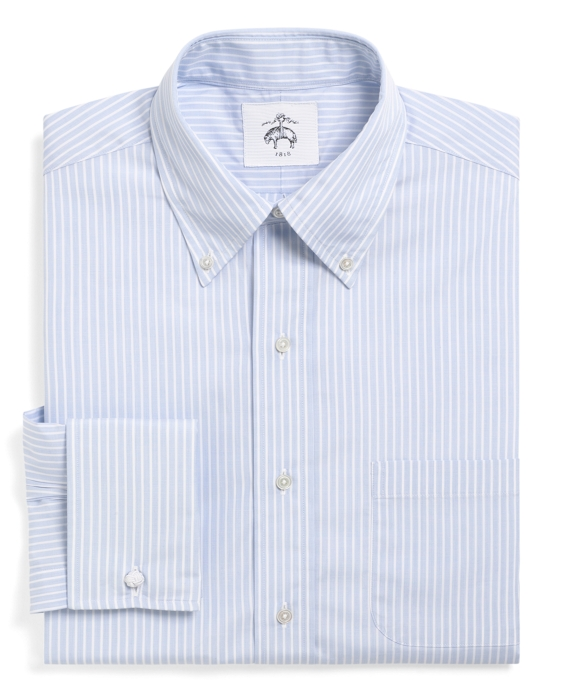 button down striped french cuff shirt brooks brothers