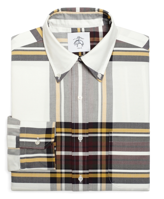 Tartan Oxford Button-Down Shirt White-Multi