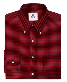 Gingham Oxford Button-Down Shirt