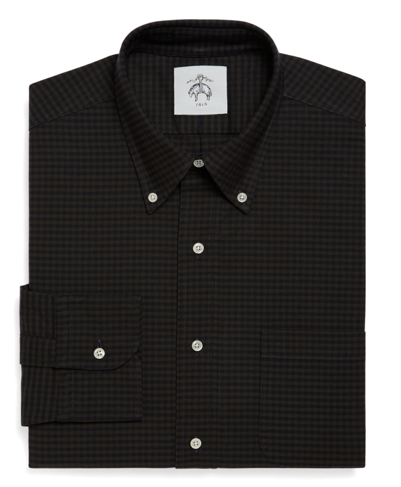 Gingham Oxford Button-Down Shirt Green-Navy