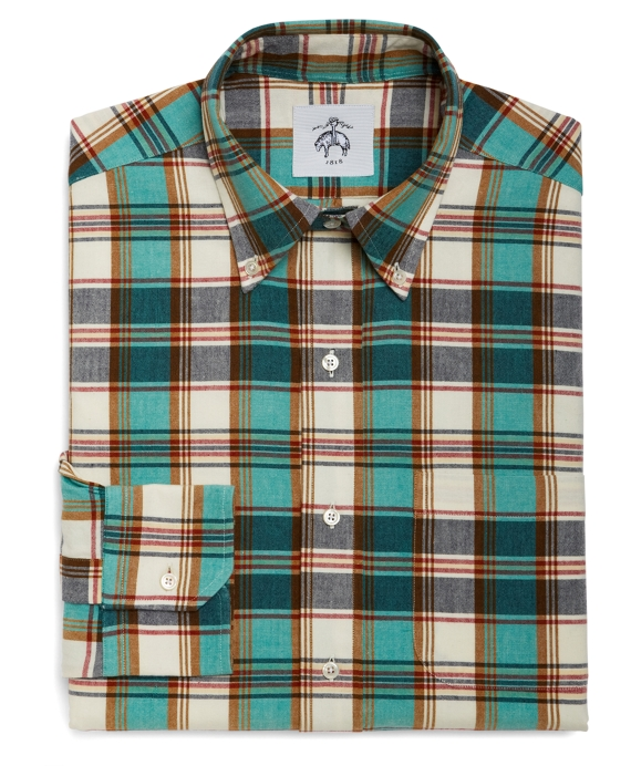 SMALL MADRAS BUTTON-DOWN SHIRT Navy-Aqua-Red