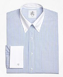 Wide Stripe French Cuff Shirt