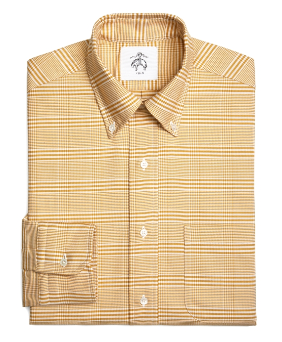 PRINCE OF WALES OXFORD BUTTON-DOWN SHIRT Gold