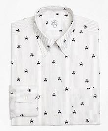 Fleece Embroidered Button-Down Shirt
