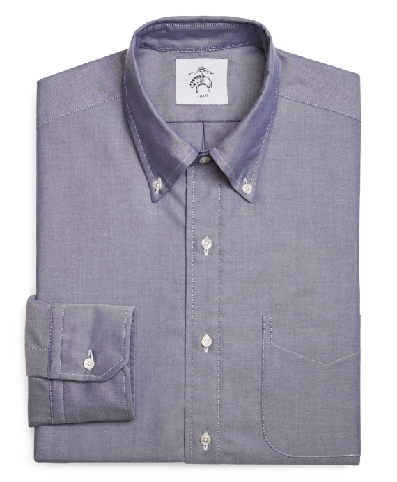 WASHED OXFORD BUTTON-DOWN SHIRT Navy