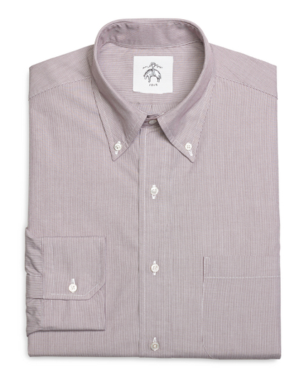 Pinstripe Broadcloth Button-Down Shirt