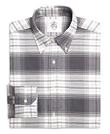 Grey and White Plaid Shirt